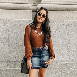 Brown knitted top